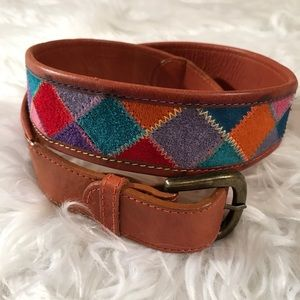 Nuovo Leather Large Patchwork Belt